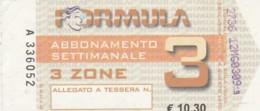 ABBONAMENTO SETTIMANALE TORINO (BX214 - Abbonamenti