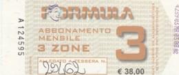 ABBONAMENTO SETTIMANALE TORINO (BX215 - Abbonamenti