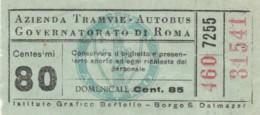 BIGLIETTO BUS TRAM ATAG (BX301 - Europa