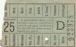 BIGLIETTO BUS TRAM GENOVA (BX347 - Europa