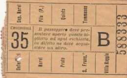 BIGLIETTO BUS TRAM GENOVA (BX390 - Europa