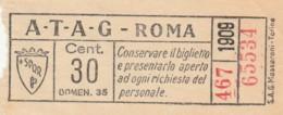 BIGLIETTO BUS TRAM ATAG ROMA (BX445 - Europa