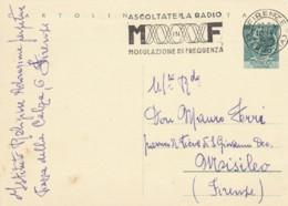 INTERO POSTALE 1958 LIRE 20 TIMBRO MODULAZIONE FREQUENZA  (LY102 - 6. 1946-.. Repubblica