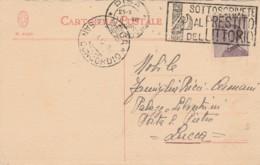 CARTOLINA POSTALE 1926 CENT.20 TIMBRO SAN CONCORDIO LUCCA SOTTOSCRIVETE PRESTITO LITTORIO (LY185 - Storia Postale