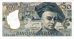 9415-2018    BILLET DE BANQUE 50 FRANCS QUENTIN DE LA TOUR 1976 - 1962-1997 ''Francs''