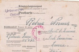 LETTERA DA GERMANIA PRIGIONIERI DI GUERRA (LY203 - 1900-44 Vittorio Emanuele III