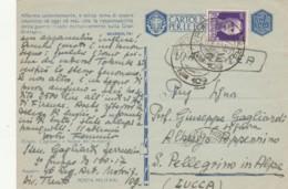 CARTOLINA IN FRANCHIGIA 1942 + 50 CENT. PA -AFFERMO SOLENNEMENTE (LY222 - 1900-44 Vittorio Emanuele III