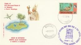 BUSTA CELEBRATIVA VISITA GIOVANNI PAOLO II ALLE BAHAMAS (LY287 - Bahamas (1973-...)