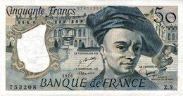 9416-2018    BILLET DE BANQUE 50 FRANCS QUENTIN DE LA TOUR 1976 - 1962-1997 ''Francs''