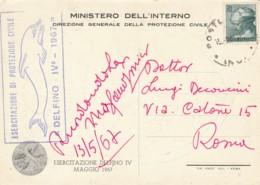 CARTOLINA 1967 PROTEZIONE CIVILE LIRE 20 (LY380 - 1961-70: Marcophilie