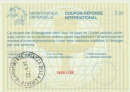 COUPON-REPONSE INTERNATIONAL 1991 FIRENZE PIAZZA LIBERTA' ITALIA L.1800 (LY497 - 6. 1946-.. Repubblica