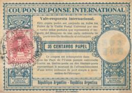COUPON-REPONSE INTERNATIONAL 1949 ARGENTINA 35 CENTAVOS (LY540 - Argentina