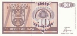 BANCONOT UNC BOSNIA ERZEGOVINA 1992 (LY583 - Bosnia Erzegovina
