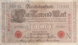 BANCONOTA 1000 1910 GERMANIA XF (LY594 - [ 3] 1918-1933 : Repubblica  Di Weimar