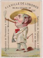 """Chromo 7,50 X 10,2 Cm. LIEGE  """" A La Ville De Londres"""" Tailleur - Couturier. - Old Paper"""