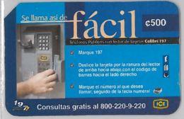 PHONE CARD - COSTA RICA (E31.9.5 - Costa Rica
