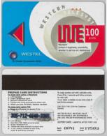 PREPAID PHONE CARD- WESTEL-GHANA (E31.18.6 - Ghana