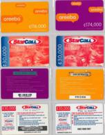 LOT 4 PREPAID PHONE CARD- GHANA (E31.22.1 - Ghana