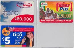 LOT 3 PREPAID PHONE CARD- GHANA (E31.31.5 - Ghana