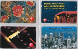 LOT 4 PHONE CARD- HONG KONG (E31.34.5 - Hong Kong