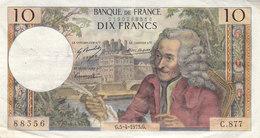 Billet 10 F Voltaire Du 5-4-1973 FAY 62.61 Alph. C.877 1 épinglage - 1962-1997 ''Francs''