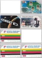 LOT 3 PHONE CARD- URMETLITUANIA (E33.11.1 - Lithuania