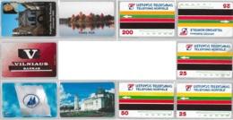 LOT 5 PHONE CARD- URMETLITUANIA (E33.10.1 - Lithuania