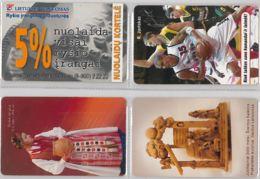 LOT 4 PHONE CARD- LITUANIA (E33.13.1 - Lithuania