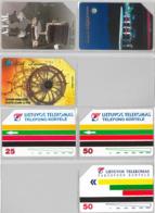 LOT 3 PHONE CARD- URMETLITUANIA (E33.11.5 - Lithuania