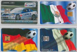 LOT 4 PHONE CARD- MESSICO (E33.37.5 - Mexico