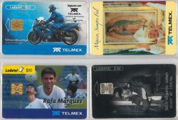 LOT 4 PHONE CARD- MESSICO (E33.40.5 - Mexico