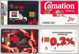 LOT 4 PHONE CARD- MESSICO (E33.38.5 - Mexico