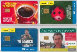 LOT 4 PHONE CARD- MESSICO (E33.44.5 - Mexico