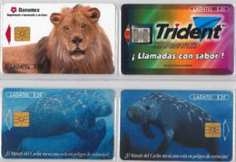 LOT 4 PHONE CARD- MESSICO (E33.38.1 - Mexico