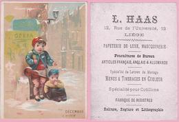 Chromo 7,50 X 10,2 Cm. LIEGE  L. HAAS Rue De L'Université. Papeterie De Luxe - Vieux Papiers
