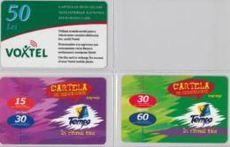 LOT 3 PREPAID PHONE CARD- MOLDAVIA (E34.38.5 - Moldavia