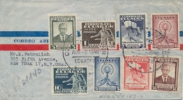Ecuador 1946 FDC Registered Airmail Cover To USA With Complete Issue Revolution Of 1944 - Ecuador