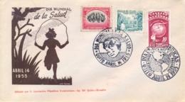 """Ecuador 1955 Cover With Special Cancels """"Dia Mundial De La Salud"""" + """"Dia De Las Americas"""" - Ecuador"""