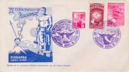 """Ecuador 1955 Cover With Special Cancel """"Riobamba - XV Feria Exposicion Nacional"""" - Ecuador"""