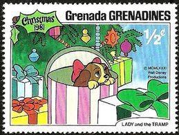 Granada Granadinas 1981 Scott 450 Sello ** Walt Disney Escenas De La Dama Y El Vagabundo 1/2cGrenada Grenadines Stamps - Disney