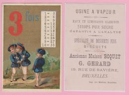 Chromo 6,7 X 10 Cm. Usine à Vapeur. Eaux Limonades. Maison G. GERARD Rue De Bavière BRUXELLES. - Vieux Papiers