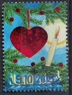 Iles Aland 2018 Oblitéré Used Christmas Décorations De Noël Cœur Rouge Et Bougie - Aland