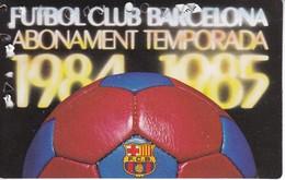 CARNET DE SOCIO DEL FUTBOL CLUB BARCELONA DEL AÑO 1984-85 GOL SUD 2ª GRADERIA (BARÇA) - Fútbol