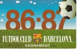 CARNET DE SOCIO DEL FUTBOL CLUB BARCELONA DEL AÑO 1986-87 GOL SUD 2ª GRADERIA (BARÇA) - Fútbol