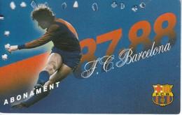 CARNET DE SOCIO DEL FUTBOL CLUB BARCELONA DEL AÑO 1987-88 GOL SUD 2ª GRADERIA (BARÇA) - Fútbol
