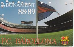 CARNET DE SOCIO DEL FUTBOL CLUB BARCELONA DEL AÑO 1988-89 GOL SUD 2ª GRADERIA (BARÇA) - Fútbol