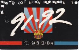 CARNET DE SOCIO DEL FUTBOL CLUB BARCELONA DEL AÑO 1991-92 GOL SUD 2ª GRADERIA (BARÇA) - Sin Clasificación