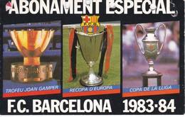 CARNET DE SOCIO DEL FUTBOL CLUB BARCELONA DEL AÑO 1983-84 GOL SUD 2ª GRADERIA (BARÇA) GAMPER - Fútbol