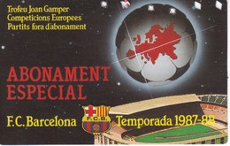 CARNET DE SOCIO DEL FUTBOL CLUB BARCELONA DEL AÑO 1987-88 GOL SUD 2ª GRADERIA (BARÇA) GAMPER - Fútbol