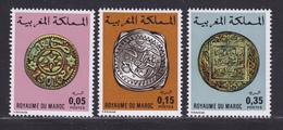 MAROC N°  756 à 758 ** MNH Neufs Sans Charnière, TB (D7878) Anciennes Monaies Marocaines - 1976 - Morocco (1956-...)
